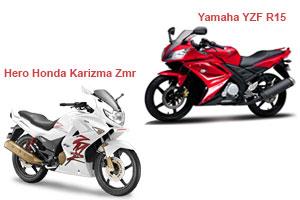 Hero Karizma ZMR vs Yamaha YZF R15 V 3.0