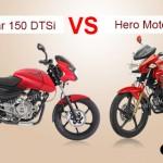 Bajaj Pulsar 150 DTSi Vs Hero Motocorp Hunk