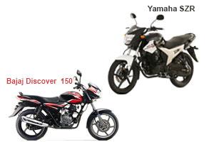 Bajaj Discover 150 Vs Yamaha SZR