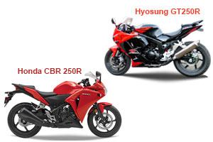 Honda CBR250R Vs Hyosung GT250R