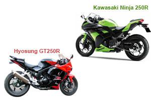Hyosung GT250R Vs. Kawasaki Ninja 250R