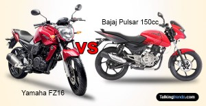 Yamaha fz16 vs bajaj pulsar 150 for Yamaha ns sw40 price