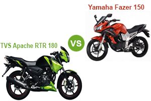 TVS Apache RTR 180 Vs Yamaha Fazer FI V 2.0