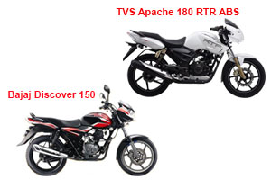 Bajaj Discover 150S vs TVS Apache RTR 180 ABS [2019]