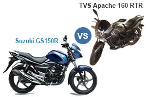 Suzuki GS150R Vs TVS Apache 160 RTR