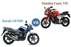 Suzuki GS150R Vs Yamaha Fazer Fi V 2.0